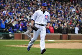 Chicago Cubs Jon Lester Finally Throws The Ball To First Base
