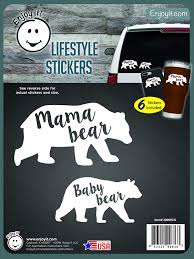 Amazon Com Enjoy It Mama Bear Baby Bear Car Stickers 6 Pieces Toys Games