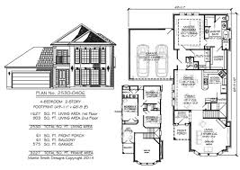 narrow 2 story floor plans 36 50 foot