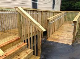 How to Add ADA Railing to a Wooden Access Ramp   Simplified Building