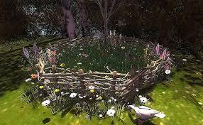 Second Life Marketplace Cj Nature Garden Fence Plot With Anim Goose Set