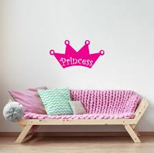 Princess Crown Girl Wall Decal Pink Princess Girls Room Etsy