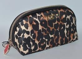 leopard cheetah print beauty bag