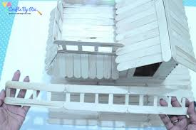 Popsicle Stick House Tutorial How To Build A Popsicle House Crafts By Ria
