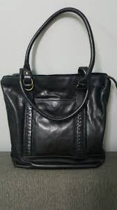 cole haan black marley tote leather