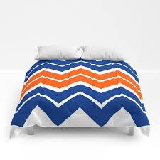 big chevron blue orange comforters
