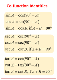 co functions examples solutions