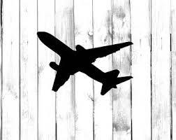Airplane Car Decal Etsy
