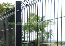3d Pvc Coated Green Security Steel Fence 5 0mm Wire Mesh Fence Panels