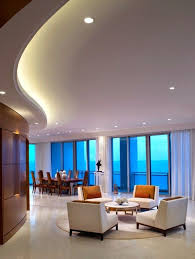 curved led ceiling lighting built in