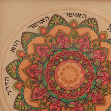 Mandala Art Hebrew Inspiring Sentence Mandala Mandala Wall Etsy