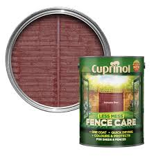Cuprinol Less Mess Fence Care Autumn Red Matt Wood Paint 5 Departments Diy At B Q