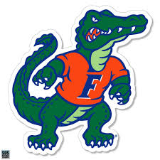 Gators Florida 6 Standing Gator Decal Alumni Hall