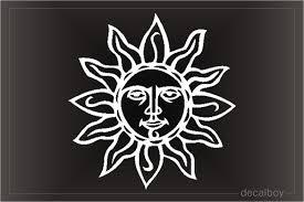 Sun Moon Decals Stickers Decalboy