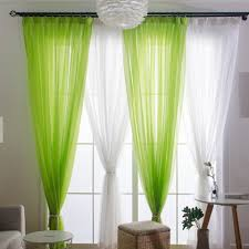 European Tulle Curtains Sheer Curtains For Living Room Kids Bedroom Voile Romantic Window Curtain Tie Backs White Green Drapes Curtains Aliexpress