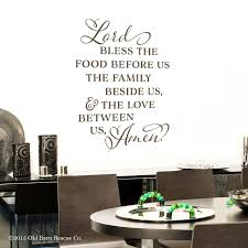 Bless This Food Before Us Decal Food Blessing Prayer