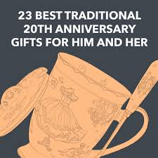 traditional 20th anniversary gifts