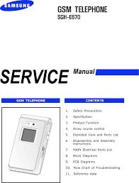 Samsung SGH E870 Service Manual. Www.s ...