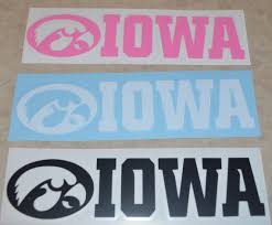 Iowa Hawkeye Vinyl Decal Long Country Wonders
