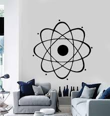 Atom Large Decal Nuclear Science Chemistry Physics Wall Vinyl Art Sticker Unique Gift M024 Vinyl Art Stickers Vinyl Wall Art Large Decal