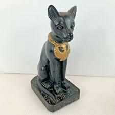 egyptian black cat bastet figurine