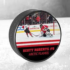 personalized photo hockey puck