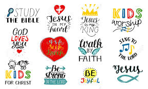 set of hand lettering christian quotes jesus is my king study