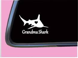 Amazon Com Grandma Shark Sticker Tp 399 Vinyl 8 Decal Song Mama Mom Mommy Vinyl Decal For Cars Trucks Laptops Fridge And More Automotive