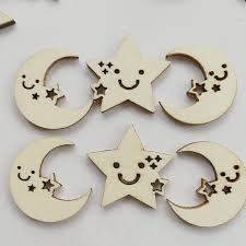 stars moon hollow ornament craft chips