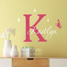 Butterfly Wall Decal Girls Butterfly Decal Custom Name Etsy