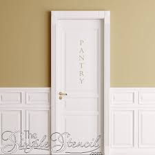 Pantry Removable Door Or Wall Decal Vertical Wall Sticker Decal Removable Simple Stencils