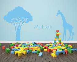 Giraffe Safari Wall Decal Personalized Name Decal African Decal Nature Wall Decal Nursery Wall Sticker Giraffe Silhouette 727t Name Wall Stickers Wall Stickerwall Sticker Name Aliexpress