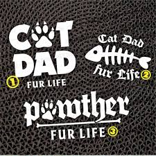 Father S Day Cat Dad Pawther Custom Waterproof Decal Etsy