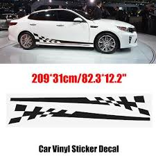 2pcs Car Side Body Vinyl Decal Sticker Racing Sports Long Stripe Decals Graphics Vinyl Sticker Car Stickers Vinyl