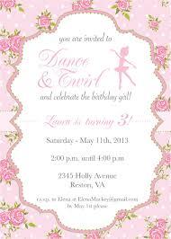 Festa Bailarina Convite De Bailarina