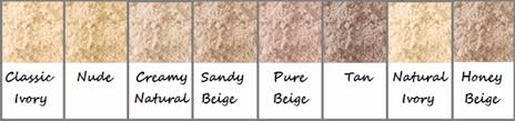 maybelline mineral powder colour chart