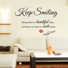 Shop Black Keep Smiling Diy Quote Vinyl Art Wall Sticker Removable Room Decals Wall Vinyl Overstock 17998792