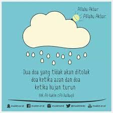 hadist tentang hujan hujan doa kutipan positif