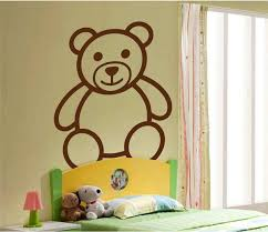 Giant Teddy Bear Adorable Large Size Vinyl Decal For Walls Windows Azvinylworks