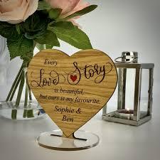 every love story oak heart gift