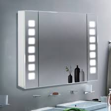 bathroom led light cabinet demister ir