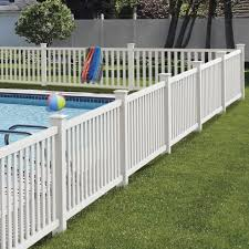 Terex 4x8 Vinyl Picket Fence Kit Vinyl Fence Freedom Outdoor Living For Lowes