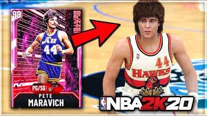 NEW* PINK DIAMOND PETE MARAVICH GREENS EVERYTHING!!   NBA 2k20 MyTEAM  Gameplay - YouTube