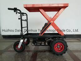China Zhenhua New Single Electric Barrow Without Fence China Wheelbarrow Wheel Barrow