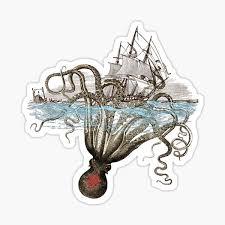Sea Monster Stickers Redbubble