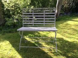 grey metal folding garden chairs dark