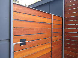 Modern Wood Gate Fence Design Modern Fence Wood Gate
