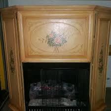 antique cabinet faux fireplace