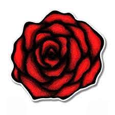 Beautiful Black And Red Rose Vinyl Sticker Waterproof Decal Sticker 5 Walmart Com Walmart Com