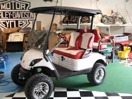 yamaha drive golf cart custom two toned